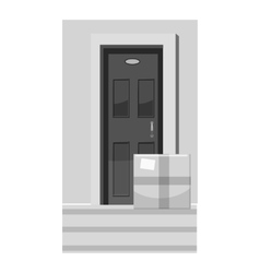 Shipping to door icon gray monochrome style vector