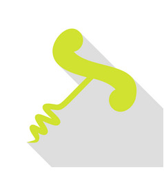 simple corkscrew sign pear icon with flat style vector image vector image