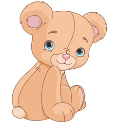 Sitting teddy bear vector
