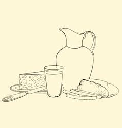 Still life of healthy breakfast vector