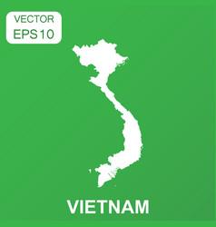 vietnam map icon business concept vietnam vector image