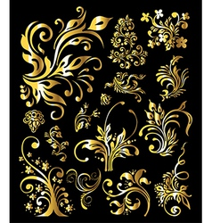 Vintage Golden Decoration Elements vector image vector image