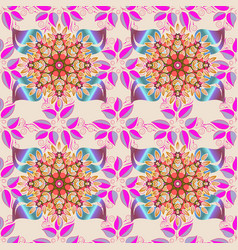 Watercolor seamless pattern for textile hand vector
