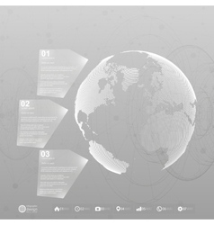 World globe infographic template for business vector