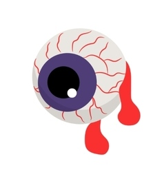 zombie bloody eye vector image