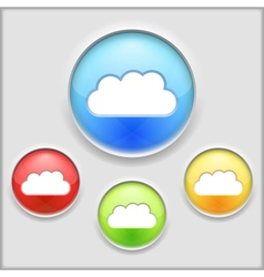 Icon of a cloud vector image