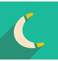 Flat icon with long shadow toy boomerang vector