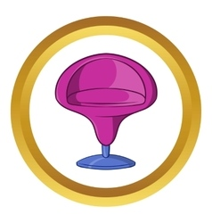 Round armchair icon cartoon style vector