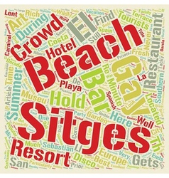 Sitges Resort for Alternative Lifestyles text vector image