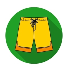 Swimming trunks icon in flat style isolated on vector