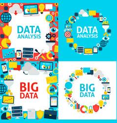 Data analysis templates vector