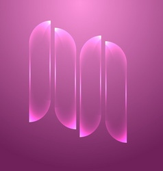 Design pink glass banners set vector image