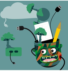 Green technology idea vector