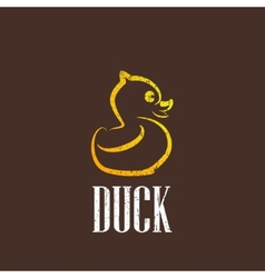 Vintage with a rubber duck icon vector