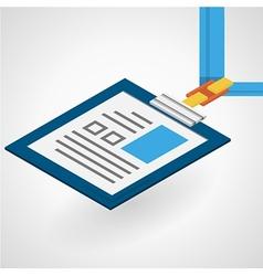 isometric flat of name badge vector image