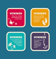 Set of summer holidays frames templates vector