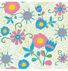 floral pattern background vector image