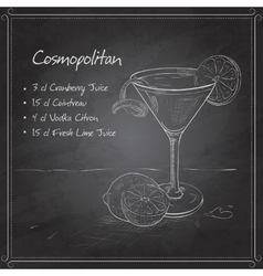 Cosmopolitan on black board vector