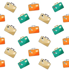 Luggage pattern on white background vector