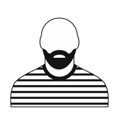 Prisoner black icon vector