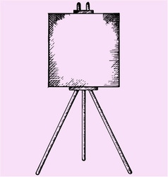 Easel blank canvas vector