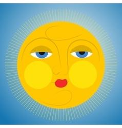 Sleepy sun vector image