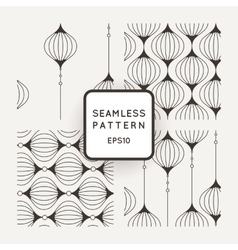 Set of seamless pattern of wavy lines vector