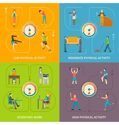 Physical activity flat concept vector