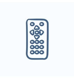 Remote control sketch icon vector