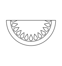 Piece of watermelon icon outline style vector