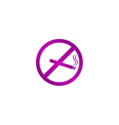 No smoking sign isolated vector