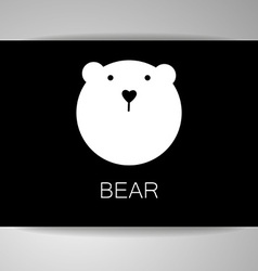 Bear animal template vector