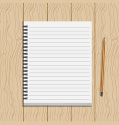 Book on wood table vector