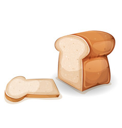 Bread or brioche with slice vector