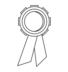 Champion medal icon outline style vector