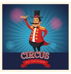 Circus man of carnival design vector