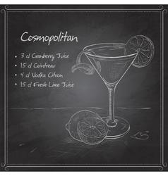 Cosmopolitan on black board vector image