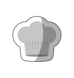 Dotted sticker of chefs hat shading and wide vector
