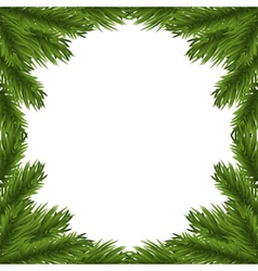 Fir tree branches frame vector image vector image