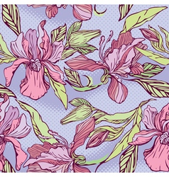 Floral Seamless Pattern with hand drawn flowers - vector image vector image
