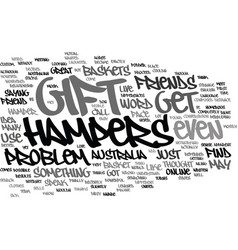 Gift hampers text background word cloud concept vector