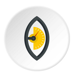 Hand power meter icon circle vector