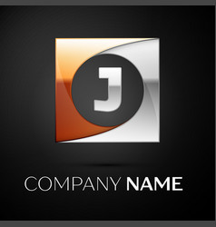 Letter j logo symbol in the colorful square on vector