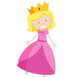 Little princess in pink dress vector image