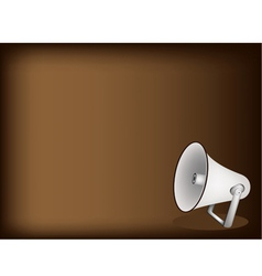 Megaphone Brown Background vector image vector image