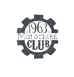 Motorbike club black and white vintage emblem vector