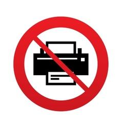 No print sign icon printing symbol vector