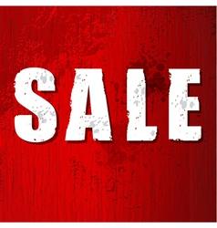 Old damaged sale sign vector