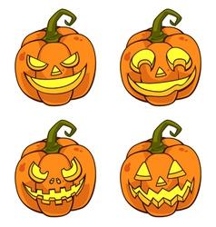 Pumpkinfacecartoon vector