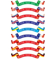 Ribbons flags vector